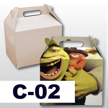 Pack Cajita feliz de cartón sublimable Image