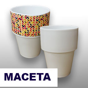 Maceta Polymer sublimable Image