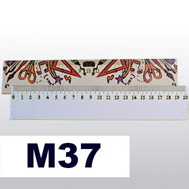 Regla Madera 20 cm caja 10 unidades - ALTO BRILLO - Image